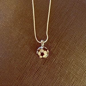 Jewelry - SOCCER ⚽️ BALL NECKLACE & PENDANT STERLING SILVER